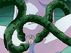 Horny hentai slut gets big tentacle dicks in every hole