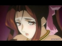 Horny and wet hentai babe with enormous boobs gets fucked by a dgirl